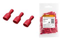 Разъем плоский полностью изолированный РППИ-М 1,25-110 красный (мама) (50 шт) TDM