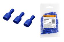 Разъем плоский полностью изолированный РППИ-М 2-250 синий (мама) (50 шт) TDM