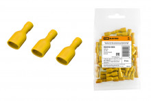Разъем плоский полностью изолированный РППИ-М 5,5-250 желтый (мама) (50 шт) TDM
