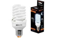 Лампа энергосберегающая КЛЛ-FST2-25 Вт-4000 К–Е27 КОМПАКТ (55х120 мм) TDM