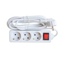 Удлинитель 3GS-5-SMART трехместный c выключателем 10А с заземлением 5м 8435 IN HOME