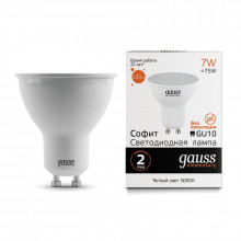 Лампа Gauss LED Elementary MR16 GU10 7W 530lm 3000К 1/10/100
