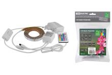Комплект светодиодной ленты SMD5050-30LED/м-12 В-7,2 Вт/м-IP20-RGB(1м), 12 Вт, IR-контроллерTDM
