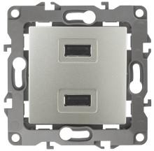 12-4110-15  ЭРА Устройство зарядное USB, 230В/5В-2100мА, IP20, Эра12, перламутр