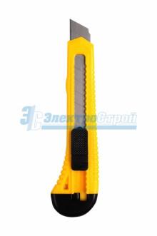 Нож с сегментированным лезвием 18 мм корпус  пластик Rexant
