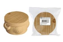 Распаячная коробка ОП D85х40мм, крышка, сосна, IP54, 4вх.  инд. штрихкод TDM