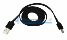USB кабель универсальный microUSB шнур плоский 1М черный