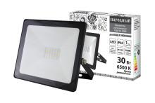 Прожектор светодиодный СДО-04-030Н 30 Вт, 6500 К, IP65, черный, Народный