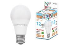 Лампа светодиодная НЛ-LED-A60-12 Вт-230 В-6500 К-Е27, (60х108 мм), Народная
