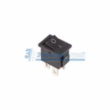 Выключатель клавишный 250V 6А (4с) ON-OFF черный  Mini  REXANT