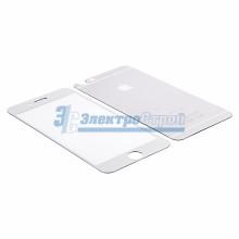 Защитное стекло двухстороннее для iPhone 6/6S серебристое
