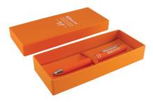 Ручка оранжевая покрытие Soft tach в подарочном футляре TDM