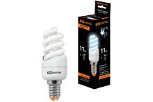 Лампа энергосберегающая КЛЛ-FSТ2-11 Вт-4000 К-Е14 КОМПАКТ (35х98 мм) TDM