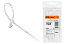 Хомут нейлоновый с монтажным отверстием 3,5х100 мм (белый) (100шт) TDM
