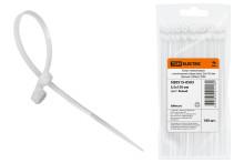 Хомут нейлоновый с монтажным отверстием 3,6х150 мм (белый) (100шт) TDM