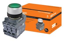 Кнопка MP1-21G(LED) в сборе d22мм/24В 1з+1р зеленая TDM