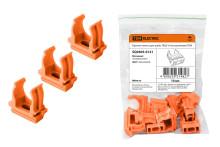Крепеж-клипса для трубы ПНД 16 мм оранжевая TDM
