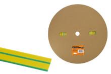 Термоусаживаемая трубка ТУТнг 20/10 желто-зеленая (100 м/ролл) TDM