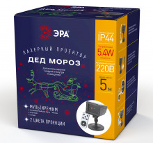 Проекторы ENIOP-02  ЭРА Проектор Laser Дед Мороз мультирежим 2 цвета, 220V, IP44
