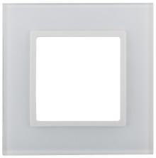 14-5101-01  ЭРА Рамка на 1 пост, стекло, Эра Elegance, белый+бел