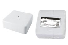 Коробка распаячная КР 75х75х28 ОП белая, IP40, с клем. колодкой, инд. штрихкод TDM