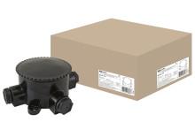 Коробка электромонтажная КЭМ 2-660-4 ОП D95 мм IP65, 4-х рожк. (карболит) TDM