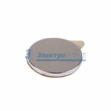 Неодимовый магнит диск 10х1мм с клеем сцепление 0,5 кг (упаковка 20 шт)