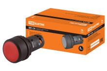 Кнопка с фиксацией SB7-CAL45 d22мм 1з+1р красная TDM