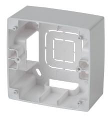 12-6101-03  ЭРА Коробка наклад. монтажа 1 пост, Эра12, алюминий