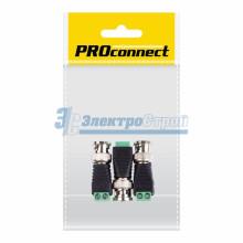 РАЗЪЁМ  штекер  BNC  с клеммной колодкой  PROCONNECT Индивидуальная упаковка 3 шт