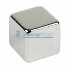 Неодимовый магнит куб 8х8х8 мм сцепление 3,7 кг (Упаковка 4 шт)
