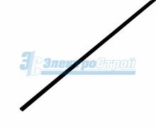 Термоусадочная трубка REXANT 3,0/1,5 мм, черная, упаковка 50 шт. по 1 м