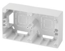 12-6102-01  ЭРА Коробка наклад. монтажа 2 поста, Эра12, белый