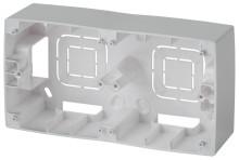 12-6102-03  ЭРА Коробка наклад. монтажа 2 поста, Эра12, алюминий