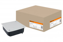 Распаячная коробка СП 115х115х45мм, крышка, метал. лапки, IP20, TDM