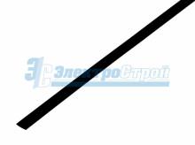 Термоусадка 4,0/2,0 мм, черная (упак. 50 шт. по 1 м) REXANT