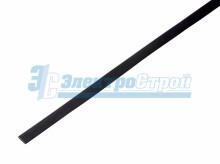 Термоусадка 6,0/3,0 мм, черная (упак. 50 шт. по 1 м) REXANT