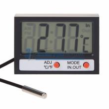Термометр электронный REXANT комнатно-уличный с часами