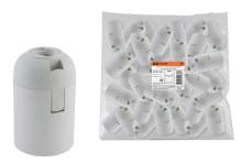 Патрон Е27 подвесной, термостойкий пластик, белый, Б/Н TDM