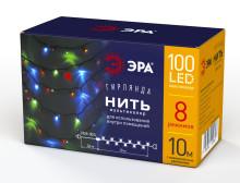 Гирлянды ENIN-10M  ЭРА Гирлянда LED Нить 10 м мультиколор 8 режимов, 220V, IP20
