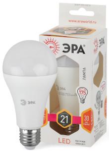 Лампы СВЕТОДИОДНЫЕ СТАНДАРТ LED A65-21W-827-E27  ЭРА (диод, груша, 21Вт, тепл, E27)