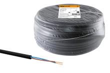 Провод ПВС 2х1 ГОСТ (100м), черный TDM